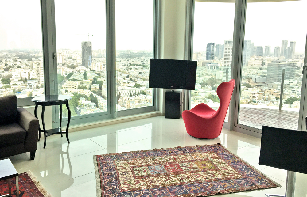 Luxury Loft apartment in Frishman Tower with sun balcony and sea view