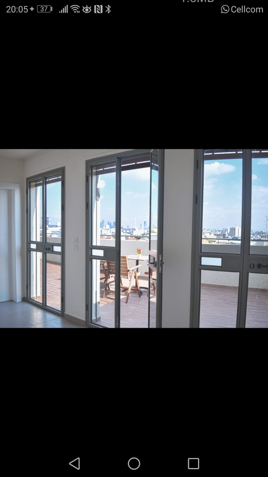 For rent a roof duplex furnished in Jaffa with a view