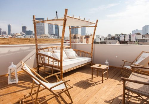 A Cool Roof  Apartment in Kerem  Hatemanim
